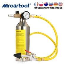MR CARTOOL Auto Aria Condizionata Tubo di Bottiglia di Pulizia A Filo Scatola Metallica di Manutenzione Clean Tool Set