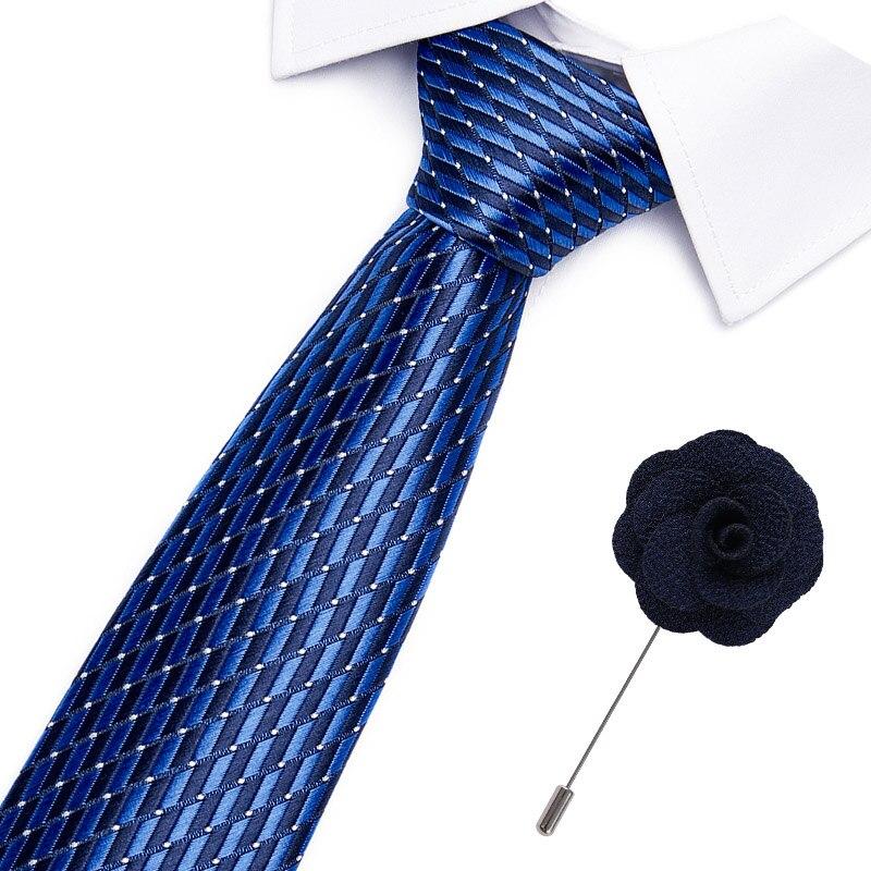 Luxury 7.5 Cm Mens Business Brooch Tie Striped Print Jacquard Formal Dress Wedding Necktie Classic Gravata Accessories Necktie