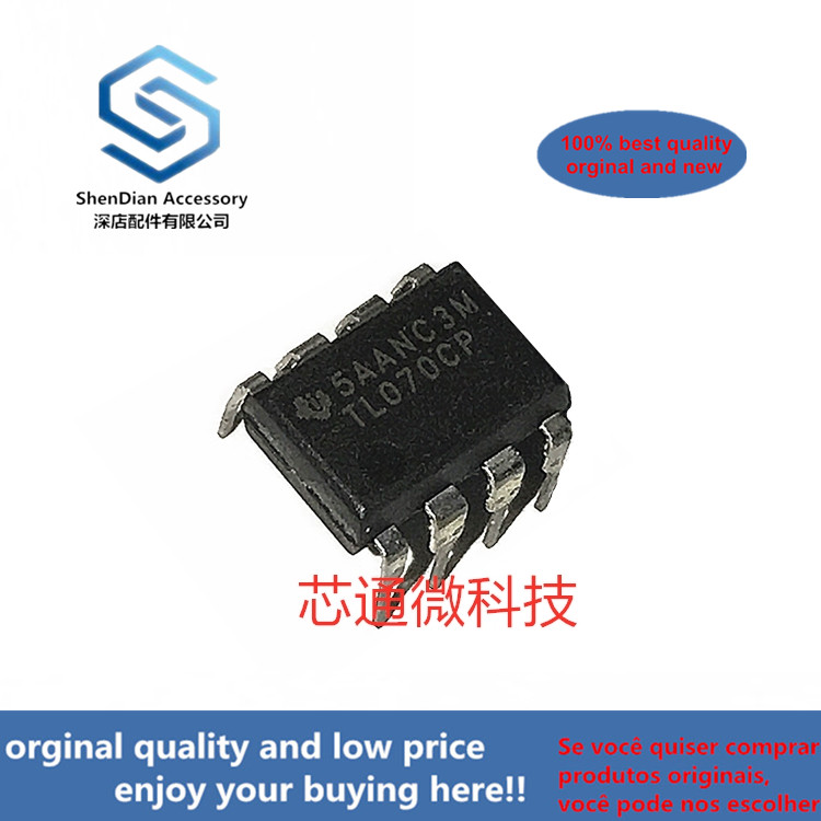 2-10pcs 100% Orginal New Best Qualtiy  TL070CP DIP8 JFET-INPUT OPERATIONAL AMPLIFIER In Stock