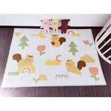 Baby Play Mat Crawling Carpet Kids Floor Rug Cartoon Squirrel Printed Playmat 54DA