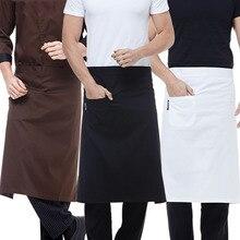 Униформа шеф-повара, женская одежда, одежда для ресторана, кухни, Мужская одежда, водонепроницаемая, маслостойкая, с карманом, кафе, официантка, повара, шеф-повара, фартуки