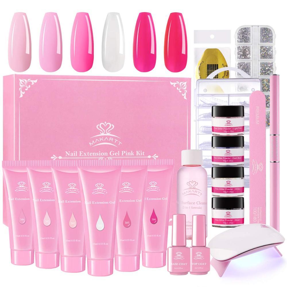 Builder Nail-Gel-Kit Slip-Solution Pink Poly Makartt with