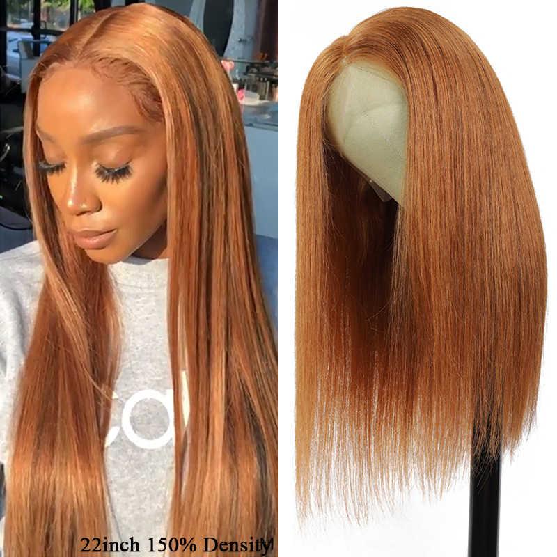 13X4 Ren Mặt Trước Con Người Tóc Giả Nam SOKU Brasil Thẳng Nâu Tóc Vàng Đỏ PrePlucked Ren Mặt Trước Tóc Giả Remy Tóc tóc Giả Dành Cho Nữ Màu Đen
