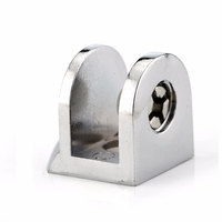 Glass Clamps Zinc Alloy Shelves Support Corner Brackets Clips For 10mm Acrylic Furniture Hardware
