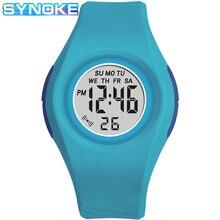 Дети часы SYNOKE Digital часы для девочки мальчика студента 5 бар водонепроницаемый наручные часы мода спорт дети% 27 часы подарки