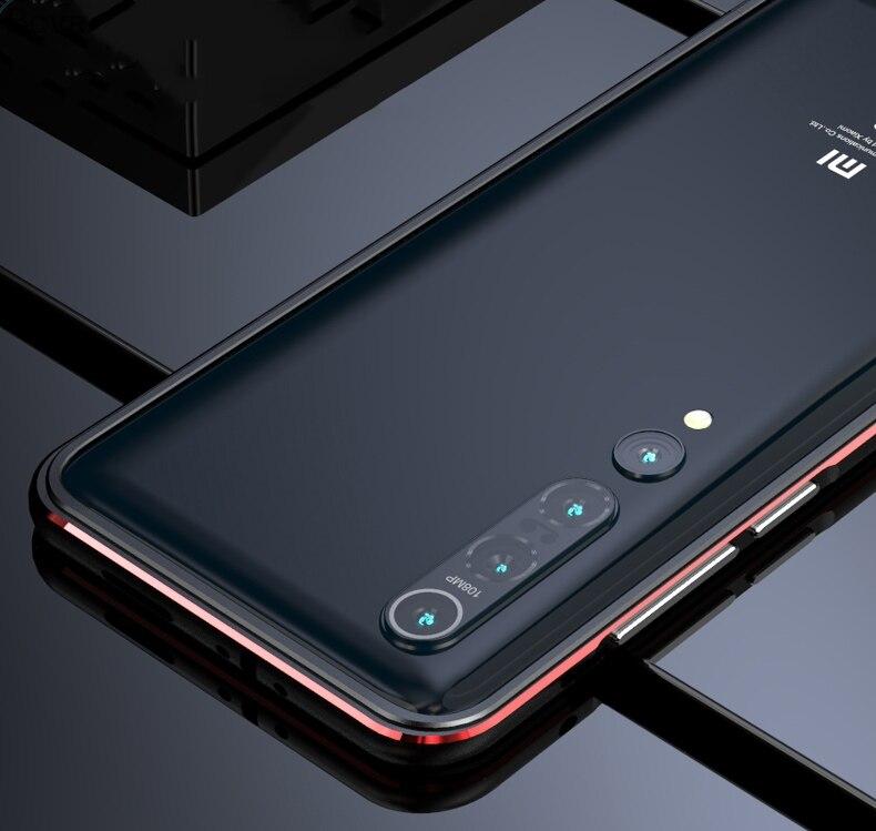 Funda para Xiaomi Mi 10 lujosa y ultrafina carcasa de aluminio para Xiaomi Mi 10 Pro Mi10 5G + 2 películas (1 frontal + 1 trasera) Winner caja dorada transparente de lujo diseño Casual correa de cuero marrón para hombres relojes de marca superior de lujo reloj mecánico con mecanismo a la vista