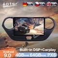 Автомобильный радиоплеер Aotsr, 9 дюймов, Android 9,0, 4 + 64 гб, GPS-навигация, DSP, автомобильное стерео видео, HD мультимедиа для Hyundai I 10 2013 - 2016