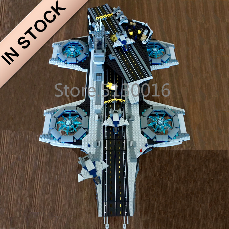 In Stock 07043 Marvel Movie The Shield Helicarrier 3057Pcs Building Blocks Compatible With 76042 Bricks Super Heroes Avengers