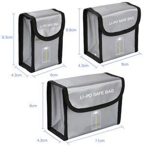 Image 5 - Взрывозащищенная сумка Mavic Mini для аккумулятора, Защитная сумка для хранения для аккумуляторов DJI Mavic Mini