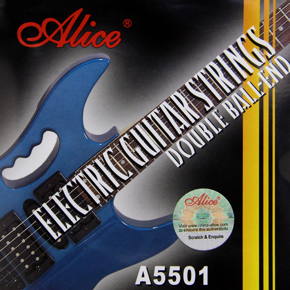 Alice Electric Guitar Strings Coated Steel Steel Core Nickel Alloy Wound Double Ball End Electric Guitar Strings