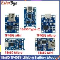 TP4056 protezione doppia funzione 5V 1A Micro USB 18650 batteria al litio modulo caricabatterie scheda di ricarica