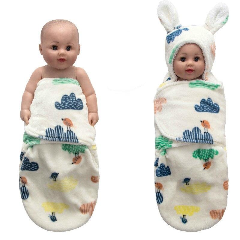 Детский спальный мешок 78*76 см из кораллового флиса; детское одеяло с капюшоном и заячьими ушками; зимняя муфта для ног; милый конверт;