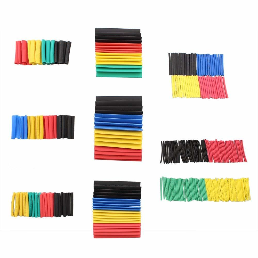 Shrinking 164Pcs Insulation Sleeving Thermal Casing Car Electrical Cable Tube kits Heat Shrink Tube Tubing Wrap Sleeve Assorted
