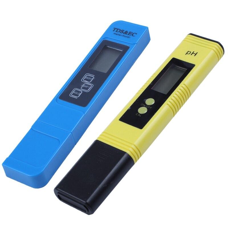 2Pcs Digital 0.0 14.0 PH Meter Tester 0 9990Ppm Digital TDS EC LCD Water Purity PPM Aquarium Filter|PH Meters| - AliExpress