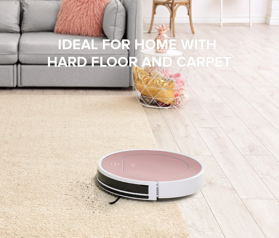 H2fb68e290f7644cc8793113c290da91eN ILIFE V7s Plus Robot Vacuum Cleaner Sweep and Wet Mopping Disinfection For Hard Floors&Carpet Run 120mins Automatically Charge