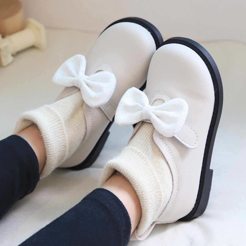 Toddler Kids Baby Girls Shoes Butterfly Bow Sock Shoes Sport Sneakers Bowkont Princess Shoes Solid Casual Princess Leisure Shoe