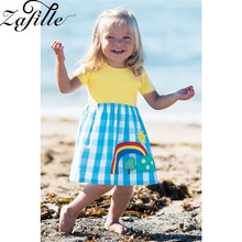 ZAFILLE  Baby Girl Clothes Toddler Embroidery Summer Dress Patchwork Cotton Girls Dress Casual Kids Clothes Girls Clothing 2020 zafille baby girls clothes soft summer dress for girl sleeveless kids clothes toddler patchwork girl dress cotton girls clothing