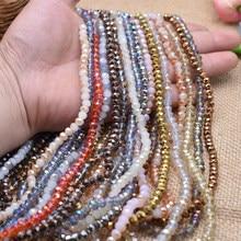 Yanqi – perles de cristal rondes à facettes pour fabrication de bijoux, 6MM 95, pièce/lot couleurs, livraison gratuite