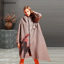 2019 autumn and winter 100kg oversized womens wear irregular  long Turn-down Collar Knee-Length coat for women A0AZ40