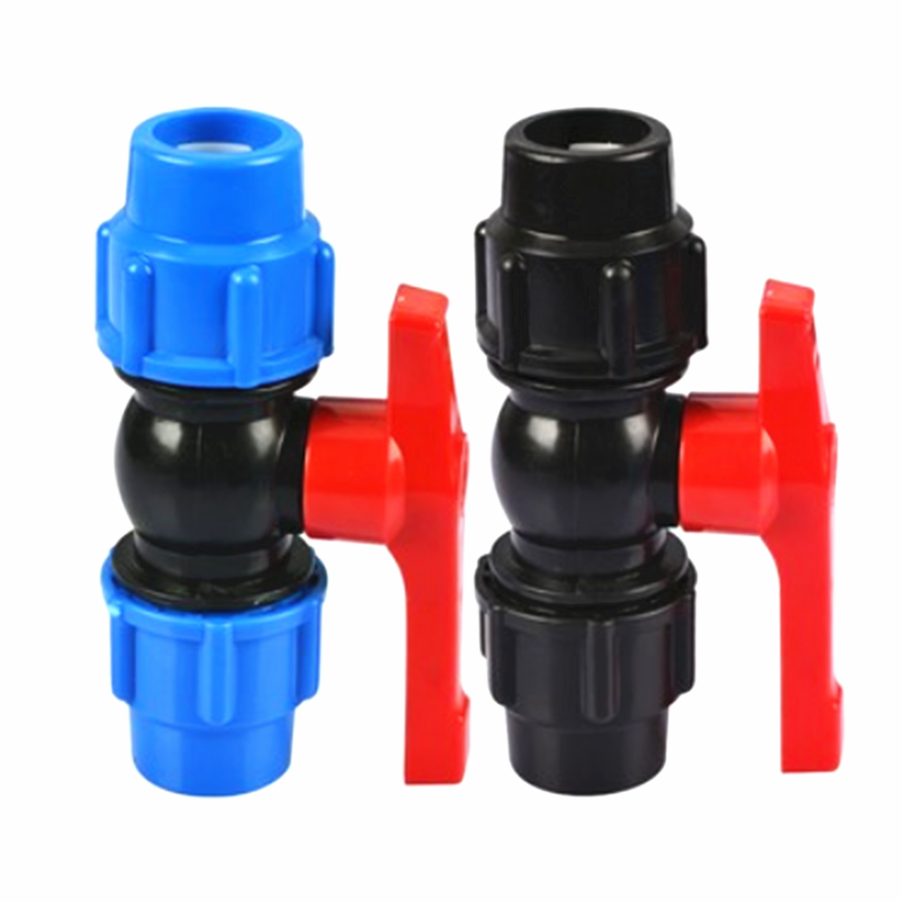 20/25/32/40/50/63mm Plastic Water Pipe Quick Valve Connector PE Tube Ball Valves Accessories