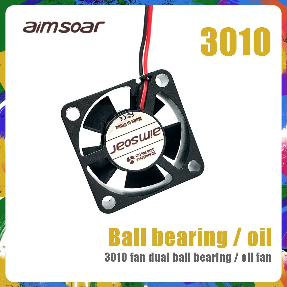 fan 12v 24v ender 3 fan 30mm 3010 dual ball bearing / hydraulic fan 2 pin 3d printer parts 3010 30*30*10mm
