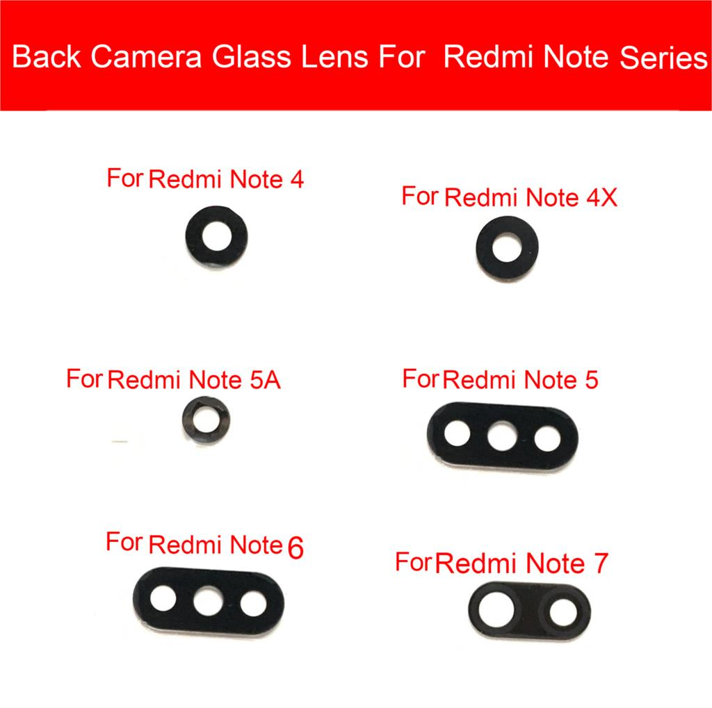 Rear Camera Glass Lens For Xiaomi Redmi Note <font><b>2</b></font> 3 4 4X <font><b>5</b></font> 5A <font><b>6</b></font> 7 Pro Back Camera Glass Lens Big Camera Cover Replacement Repair image