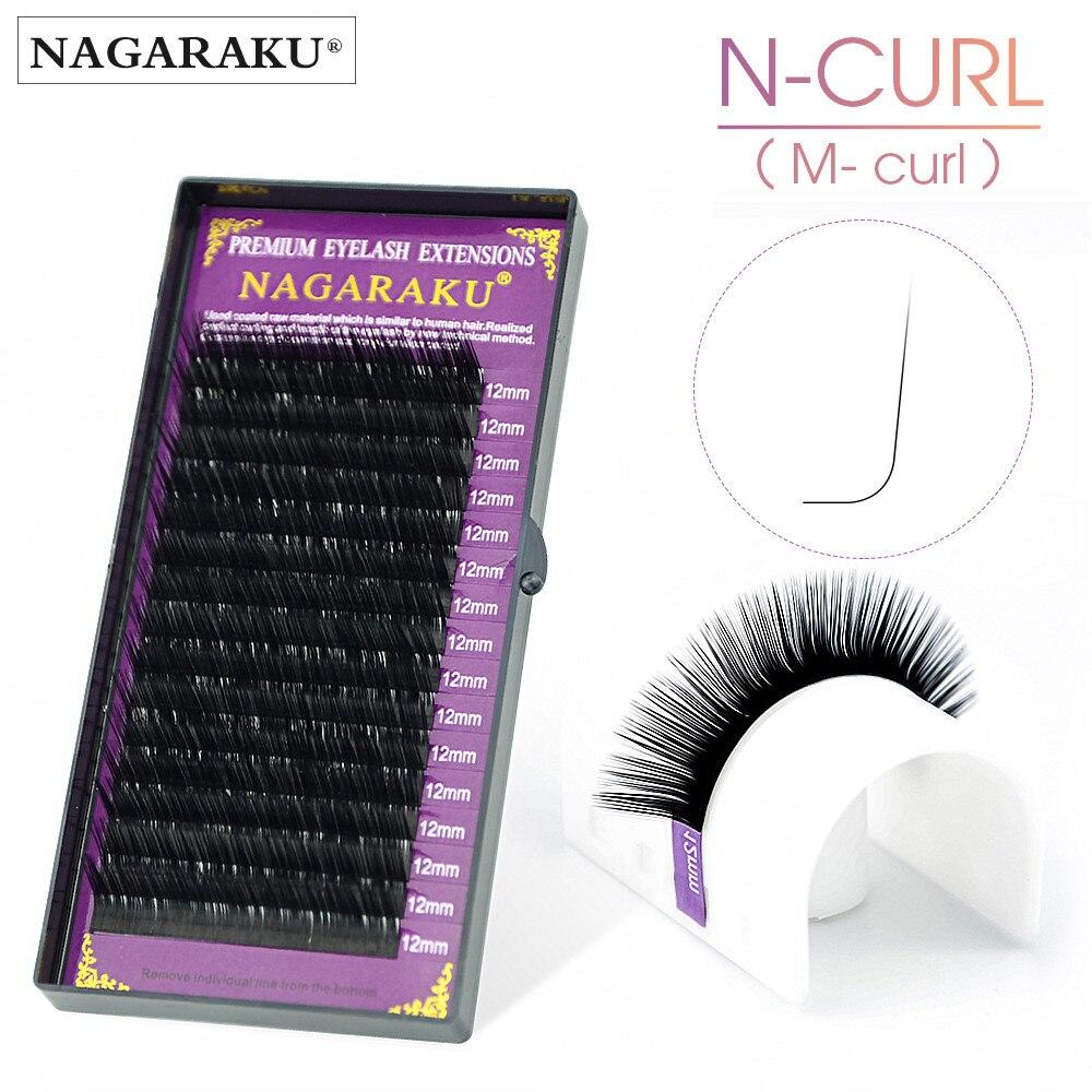 NAGARAKU N curl M curl mink eyelash individual makeup false lashes magnetic eyelashes maquillaje eyelash extension cilios 1