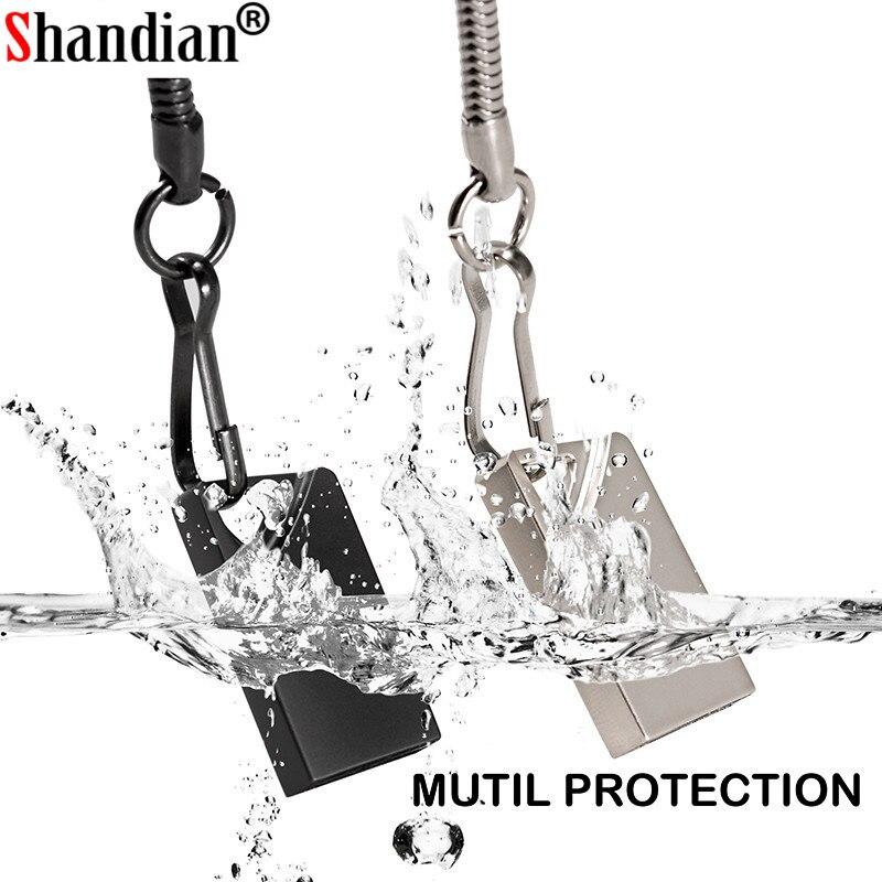 SHANDINAN USB Flash Drives 128gb mini usb flash metalen pen sleutel schijf logo pendrive stick flash 32GB /8 GB/4 GB/16 GB