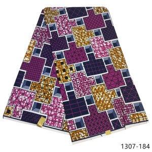 Image 5 - 2019 האחרון אנקרה שעוות בד מובטח אמיתי שעווה 6 חצר/הרבה באיכות גבוהה אפריקאי בד הדפסת עבור תפירת שמלה 1307