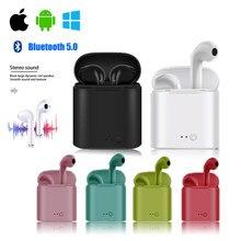 I7s tws i9s fone de ouvido sem fio bluetooth fone de ouvido com caixa para iphone 6 7 8 x android ios sistema 4.3