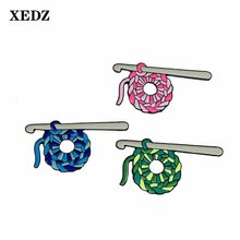 XEDZ 3 Styles Color Enamel Pins Needle Thread Ball Cotton Lantern Packaging Lapel Badge Sweater Brooch Jewelry Children Gift(China)