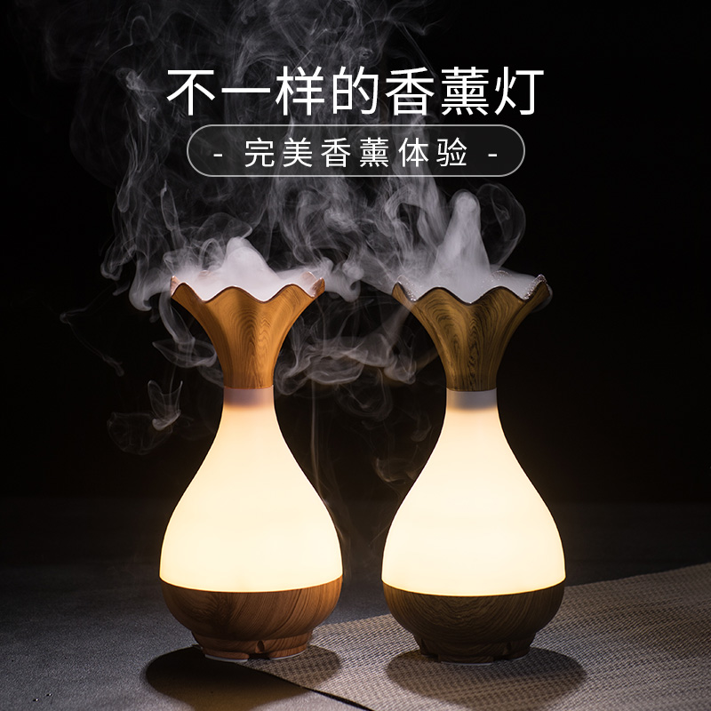 Electric Incense Burner Mute Night Light Aroma Lamp Bedroom Ultrasonic Air Humidifier Incense Holder Home Decorations MM60XXL