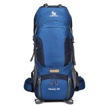 60L Climbing Hiking Outdoor Backpack Waterproof Women&Men Bag Camping Mountaineering Backpack Sport Bike Travel Bags