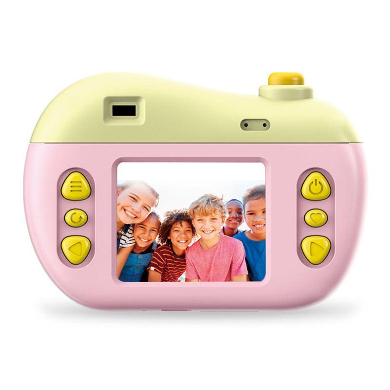 JJRC V01 Kids Mini Digital Camera 8MP 2.0 Inch HD Screen Cute Children Camcorder With Play Games Toy Cameras Pink / Green Gifts