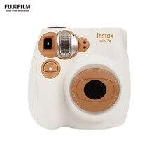 Fujifilm Instax Mini7c мгновенная камера пленочная камера автоматическая фокусировка с батареей ремешок на запястье День рождения Рождество год фестиваль подарок