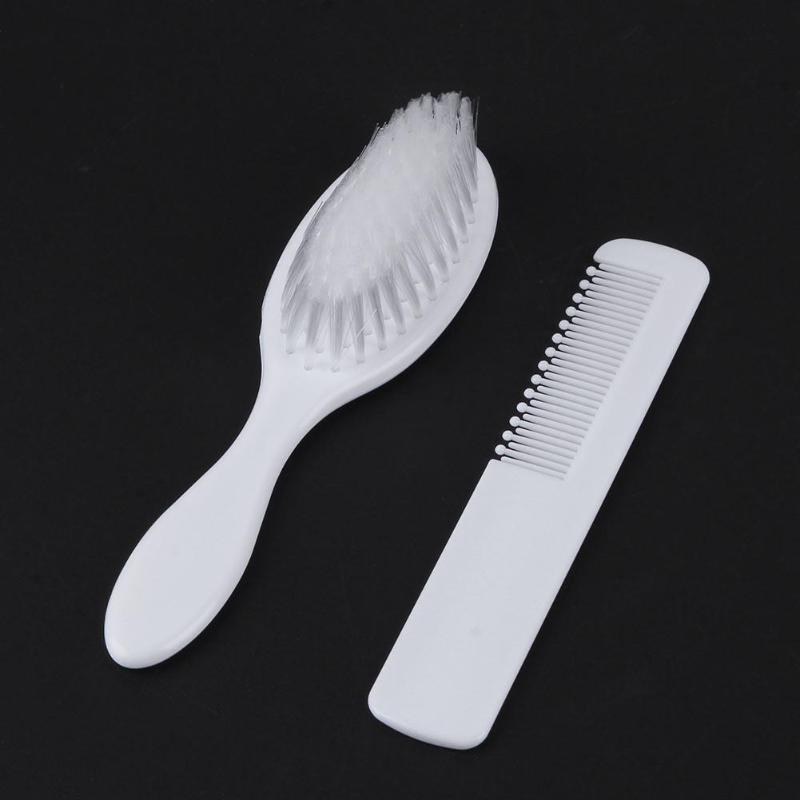 2pcs/Set Infant Newborn Baby Hair Comb+Brush Soft Head Massager Kids Hair Care Tool