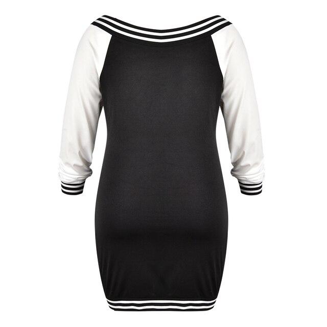 5XL Plus Size Bodycon Dress Sexy Deep V Zipper Dress Women Stripe Long Sleeve Mini Dress Elegant Slim Fit Club Dress vestido D30 5