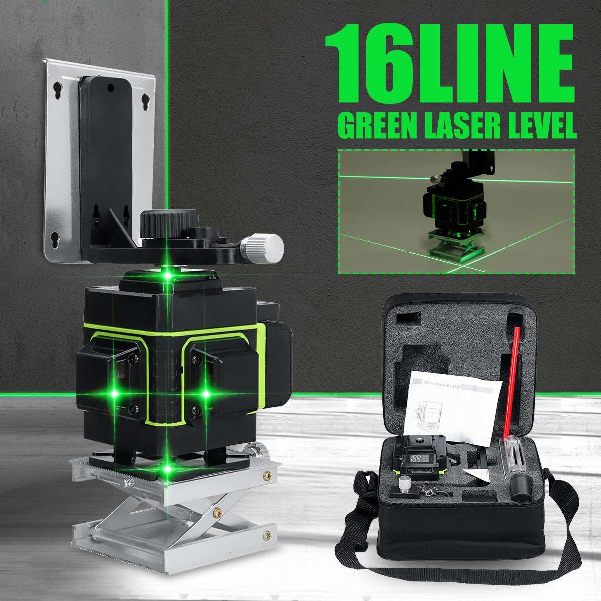 16 linien Laser Level 3D Selbst Nivellierung 360 Dreh Horizontale Und Vertikale Kreuz Super Mächtige Blaue Grüne Strahl Linie laser Ebenen