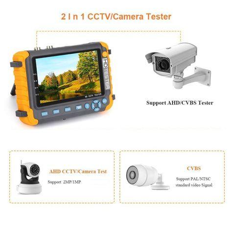 ahd cctv tester camera 5 polegada 8mp