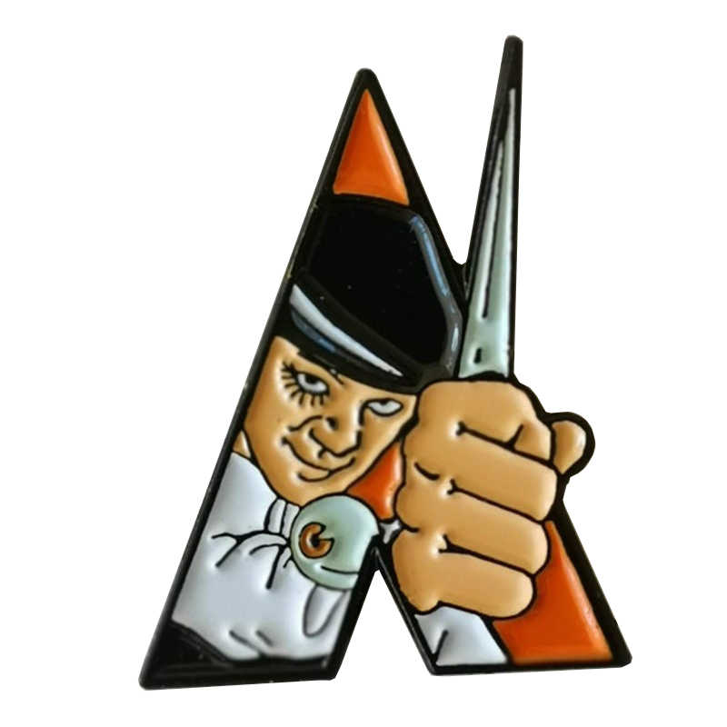 A Clockwork Orange pin distintivo