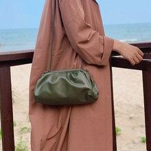 Cloud-wrapped Soft Leather bags for women Lady's designer Single Shoulder Slant