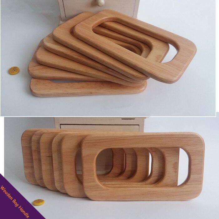 Taille 16.5*9.5cm bois sac cintre solide matériel en bois sac à main cadre poignée chine élégance en bois sac à main sac poignée
