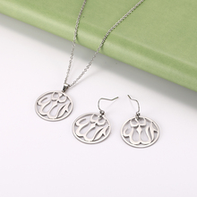 Earring-Sets Allah Islam Stainless-Steel Golden-Choker Necklace Pendant Chain Muslim