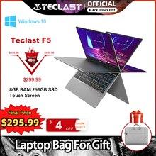 """Teclast F5 מחשב נייד 11.6 """"נייד 8GB RAM 256GB SSD Windows10 1920*1080 טעינה מהירה 360 מסתובב מגע מסך"""