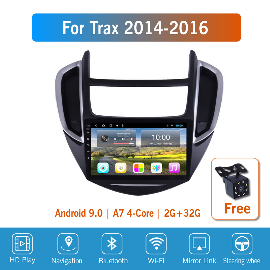 9 ''IPS Android 9 для Chevrolet Trax 2014/2015/2016 автомобильное радио, мультимедиа, GPS-навигация, навигационный плеер, автомобильное стерео, Wi-Fi