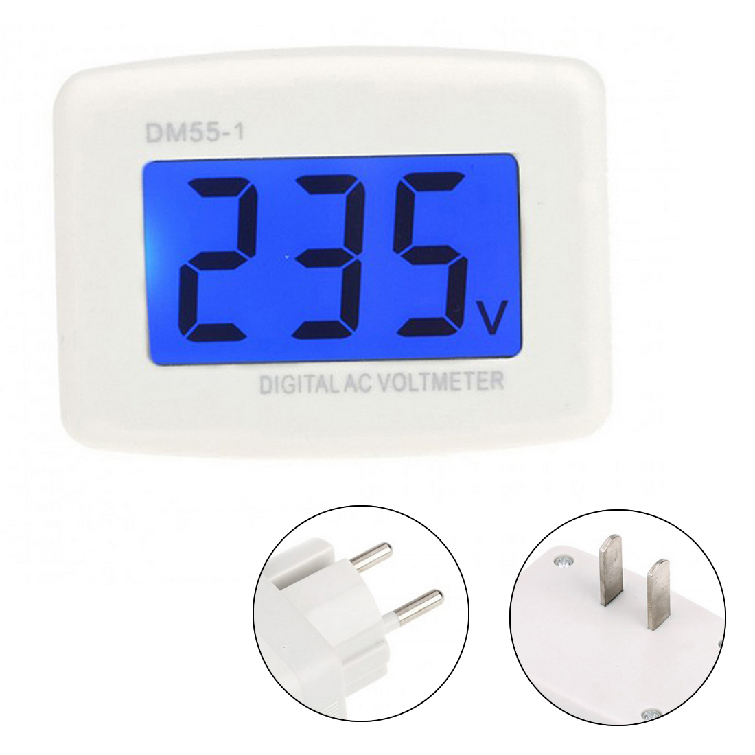 Voltage Meter Plug AC 80-300V Volt Meter LCD Digital Display Voltmeter Testers DM55-1