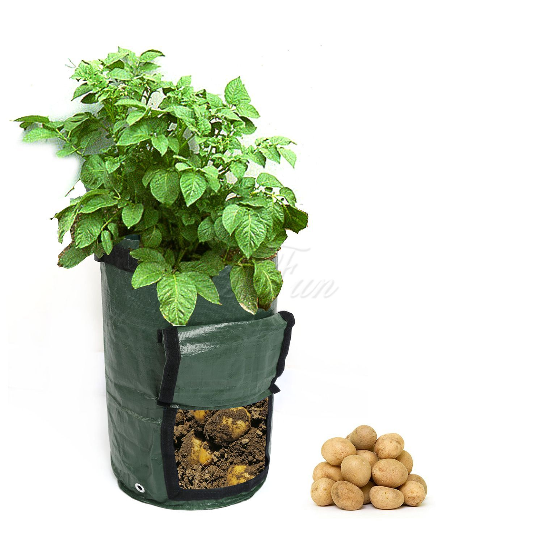 Купить выращивание картофеля сумки прочный 7 галлонов картофелесажалка