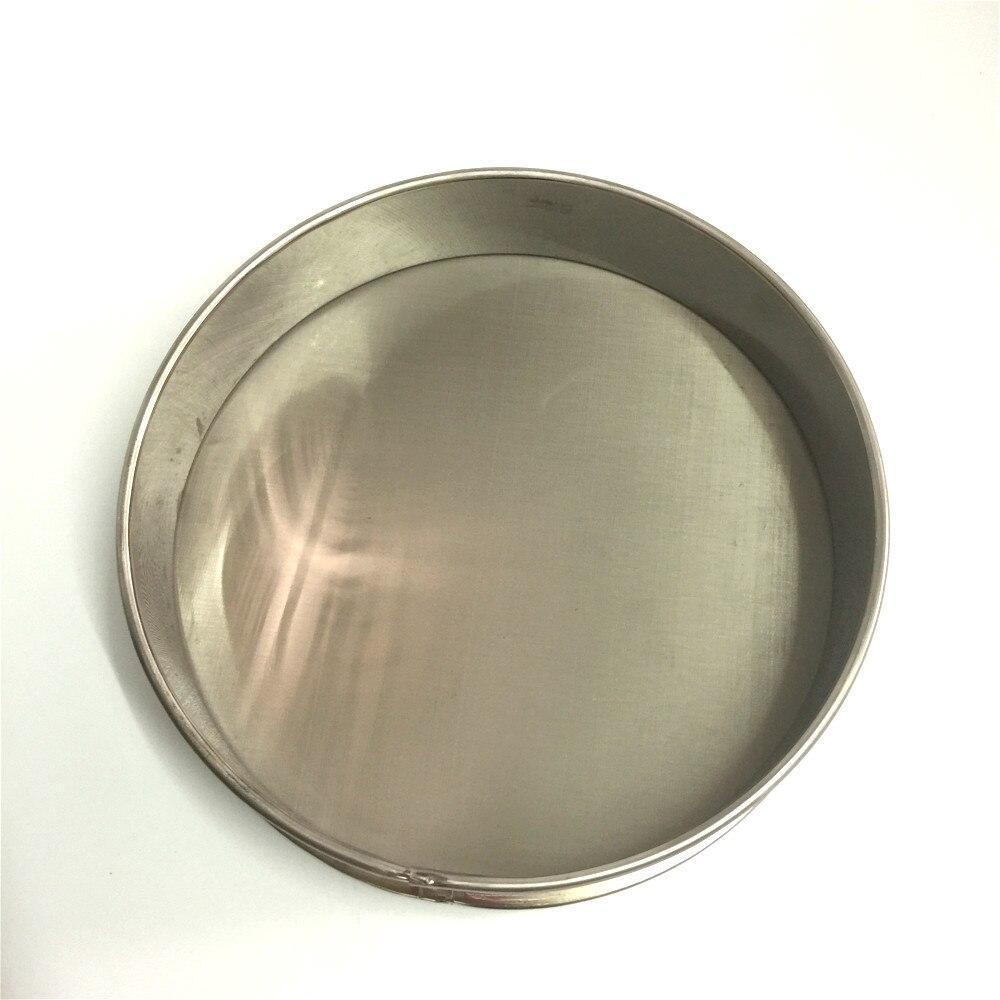 Test Sieve Soybean Rice Grain Sesame Flour Sample Sieve Stainless Steel Filter Mesh Chroming Frame Diam. 20cm 0.005mm - 0.063mm