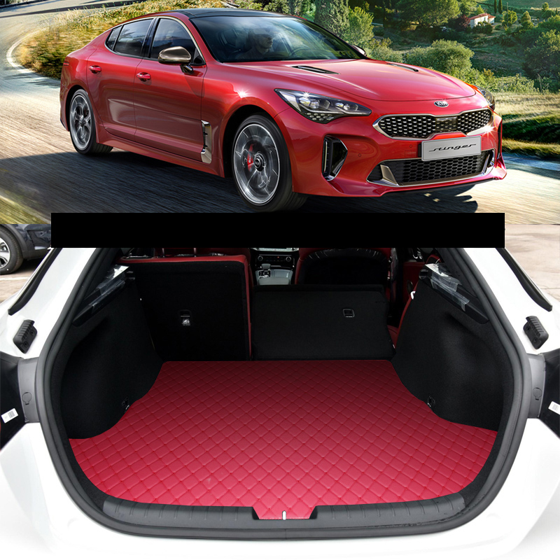 Lsrtw2017 Leather Car Trunk Mat Cargo Liner For Kia Stinger Interior Rug Carpet Accessories 2018 2019 2020