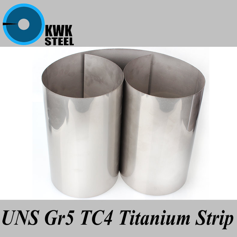 Titanium Alloy Strip UNS Gr5 TC4 BT6 TAP6400 Titanium Ti Spacer Foil Filler Thin Sheet Industry Or DIY Material Free Shipping